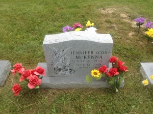 My oldest daughter's grave, May 2013